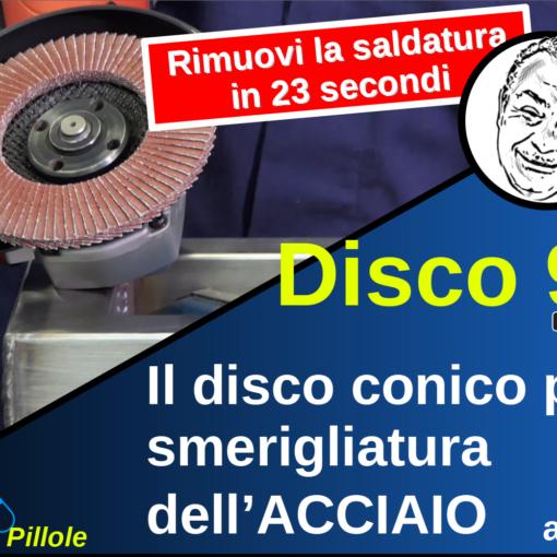 Disco lamellare conico 967A per la smerigliatura dell'Acciaio