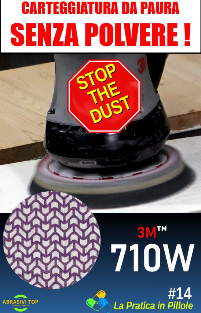 Carteggiatura senza polvere con il 710W Cubitron II
